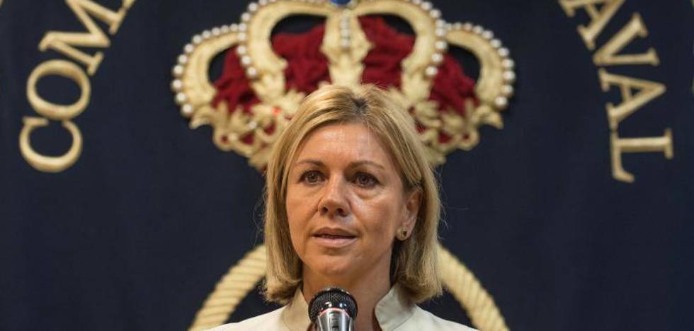 Cospedal recuerda en Bilbao que las Fuerzas Armadas «garantizan» la soberanía nacional