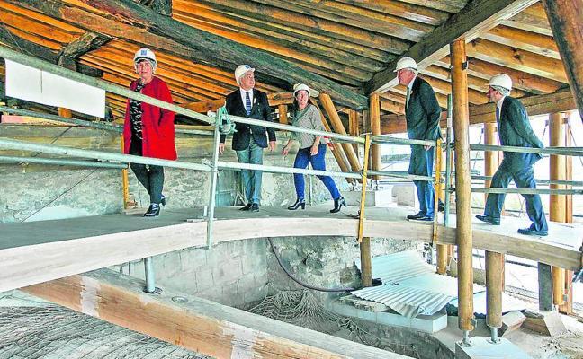 Santa María abrirá un nuevo espacio bajo la cubierta del pórtico a finales de año
