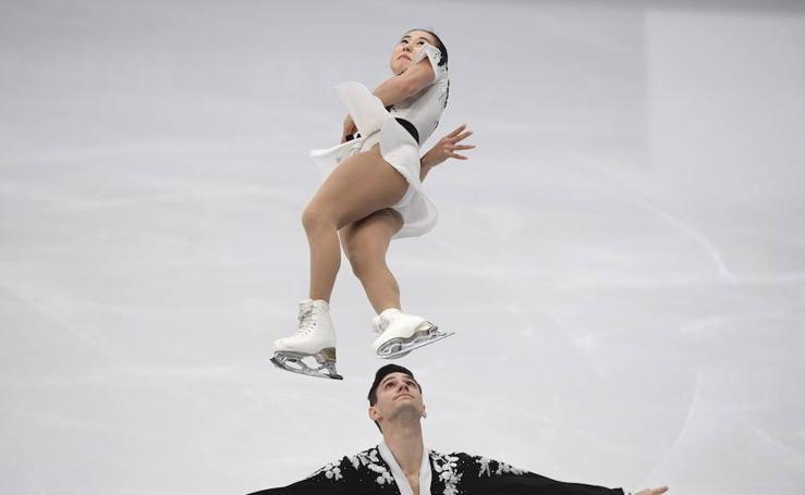 Vuelo y piruetas en el Campeonato de patinaje de Moscú