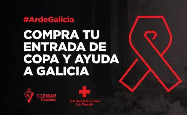 El Eibar donará la taquilla del partido ante el Celta a los afectados por los incendios