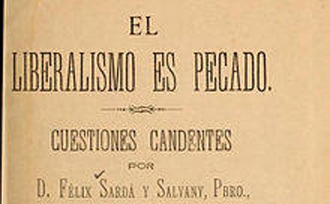 Natxo de Felipek Felix Sarda i Salvanyren 'El liberalismo es pecado' liburua oparitu dio Euskaltzaindiari
