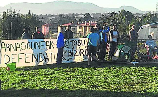 La nueva ocupación de Tosu suspende las obras del parking de Ibarbengoa