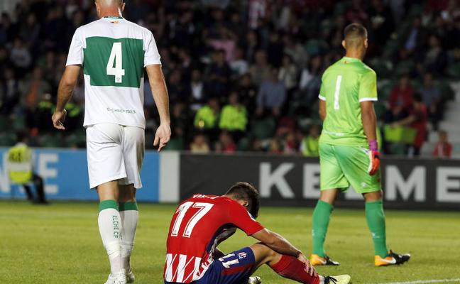 El Atlético de Madrid empata frente al Elche y la Ponferradina sorprende al Villarreal