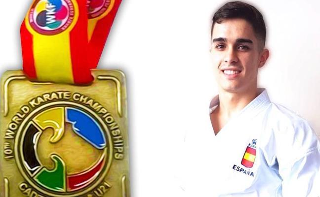 Xabier Pereda, campeón del mundo de karate sub-21