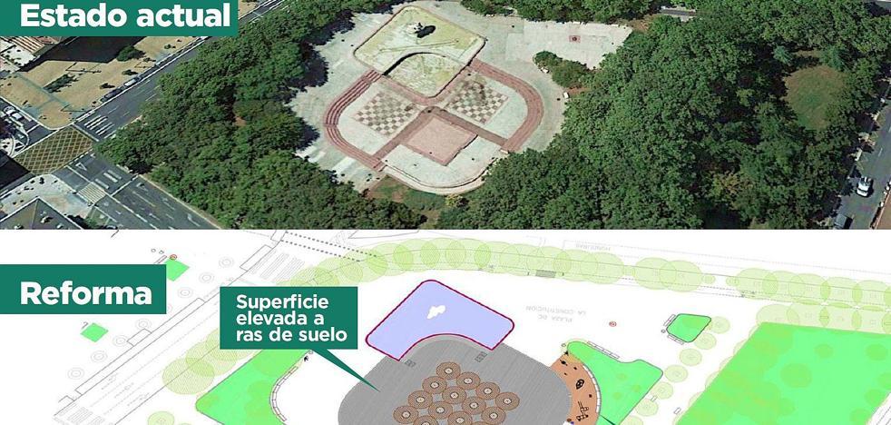 Zonas verdes y un parque infantil para la nueva plaza de la Constitución