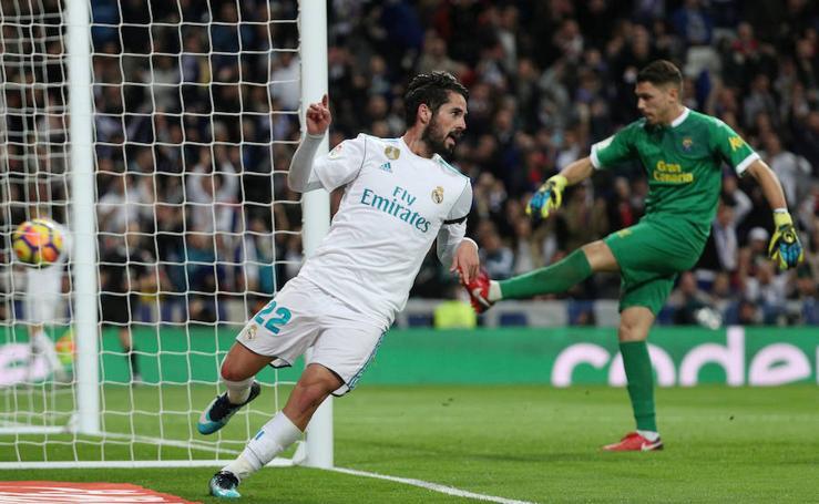 Los mejores momentos del Real Madrid-Las Palmas, en imágenes