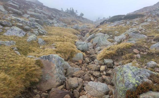 La sequía convierte el nacimiento del Duero en un simple hilo de agua