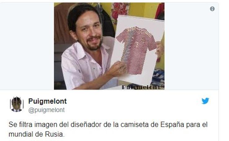 Los memes de la camiseta 'republicana' de la selección de España