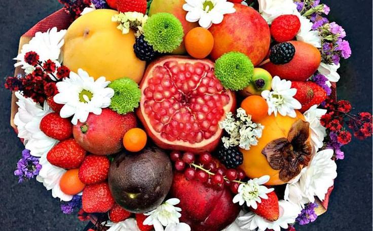 Los ramos de frutas, verduras o embutidos de Katy, en imágenes