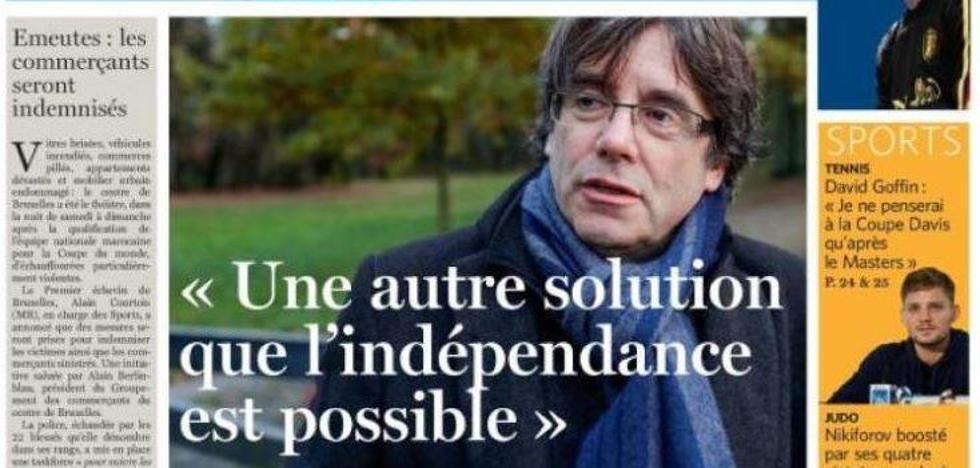 Puigdemont se muestra ahora «abierto» a un anclaje de Cataluña en España distinto a la independencia