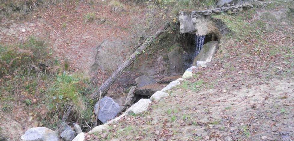 El Ayuntamiento de Galdakao termina este mes las obras de la presa de Aranzelai