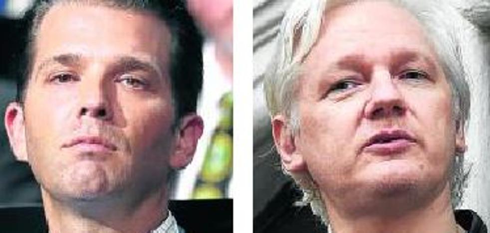 ¿Qué tenía que decirle Wikileaks al hijo de Trump en plena campaña?