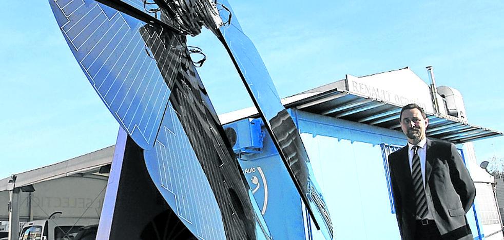 Leioa estrena el primer girasol solar de Euskadi para recargar coches eléctricos