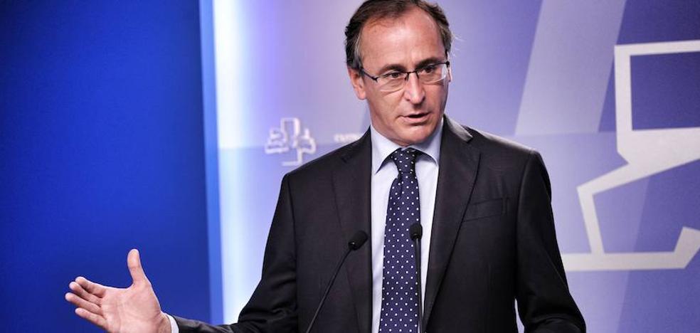 Alonso celebra que Urkullu se implique en la negociación de los Presupuestos