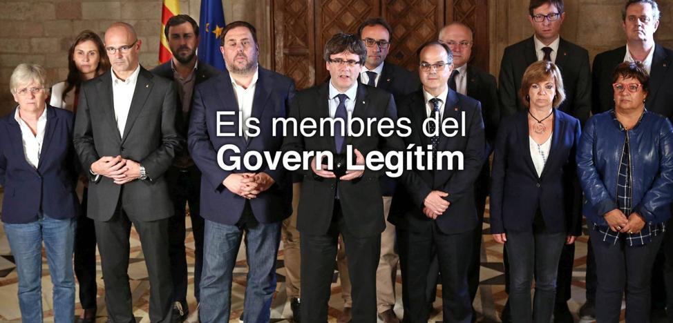 El Govern destituido borra a Santi Vila en la foto de su nueva web
