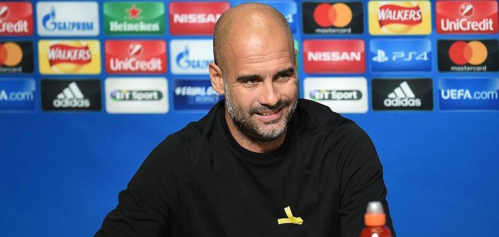 Guardiola: «Espero que tarde o temprano deje de llevar el lazo»