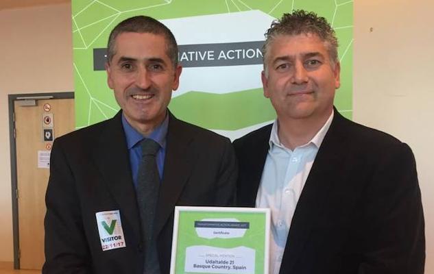 Udaltalde 21 logra una mención especial en unos premios europeos de acciones transformadoras