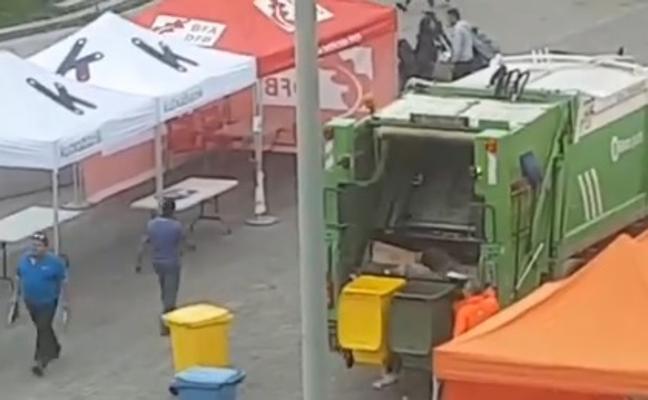 El operario que mezcló residuos urbanos cerca del Guggenheim tuvo «un error puntual»