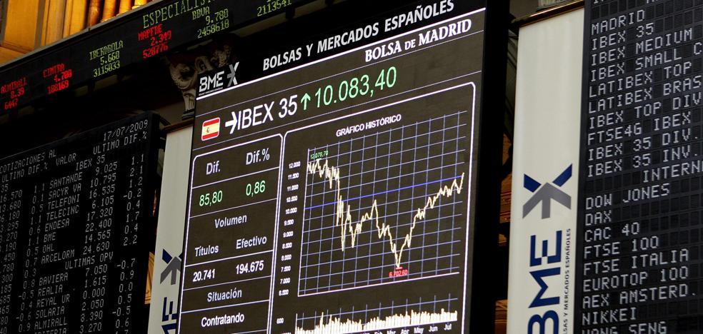 El Ibex-35, el mejor del día pero sin poder aún con los 10.100 puntos