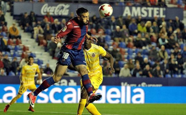 El Levante elimina a un Girona que tuvo opciones de igualar eliminatoria