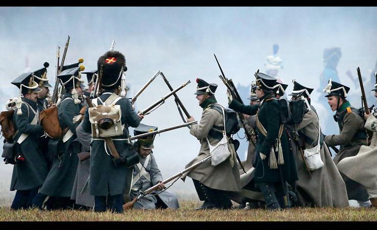 Recrean la batalla del Berézina