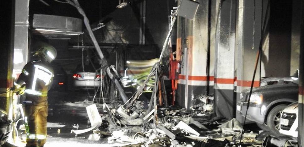 La Ertzaintza sospecha que el incendio en el garaje de Miribilla fue intencionado