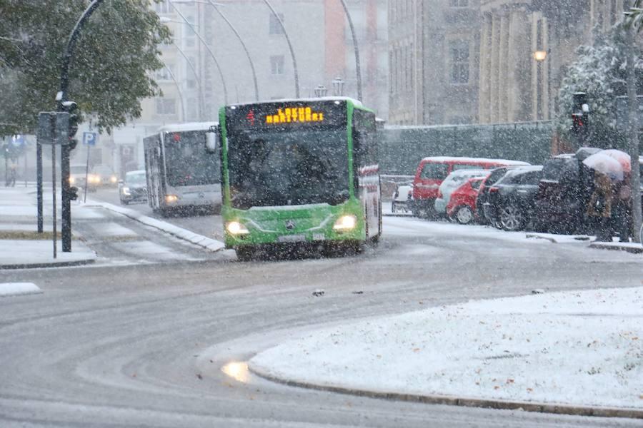 Diciembre amanece con nieve en Vitoria