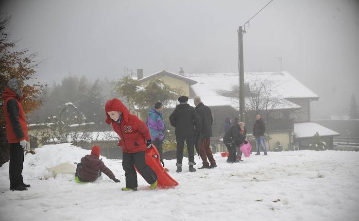 Sábado para divertirse en la nieve