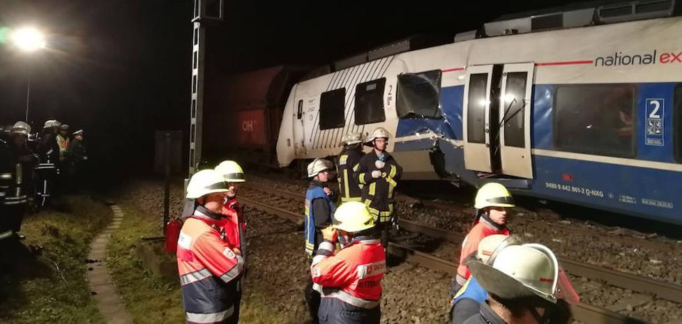 Decenas de heridos en un accidente de tren al oeste de Alemania