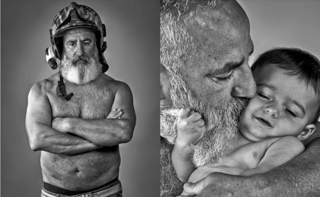 Un calendario de barbas defiende la salud masculina en Barakaldo