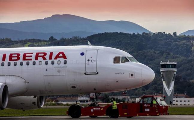 Iberia refuerza la ruta Bilbao-Madrid los sábados