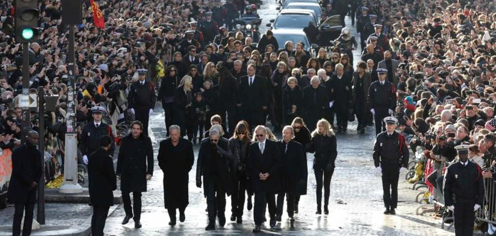 Multitudinario adiós a Johnny Hallyday