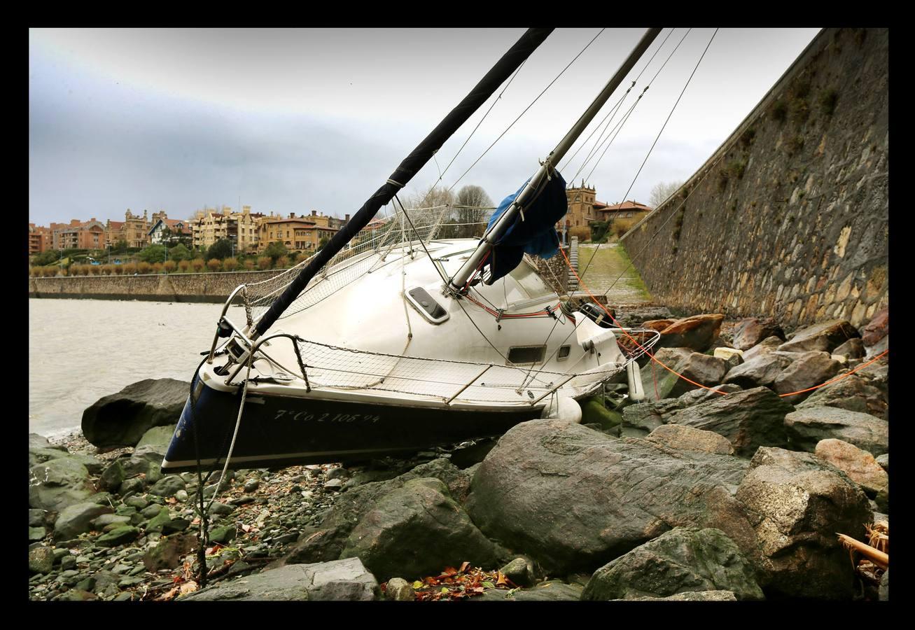 Las consecuencias del temporal en Bizkaia