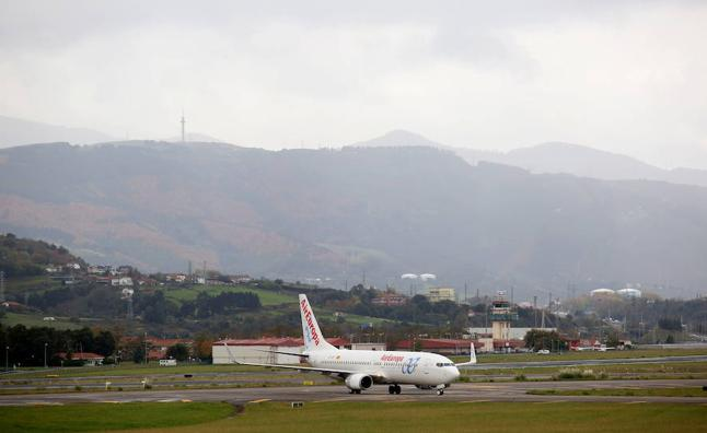 El vuelo del Athletic, desviado a Pamplona