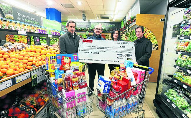 Un vecino de Getxo dona 6.000 euros al Banco de Alimentos por tercer año