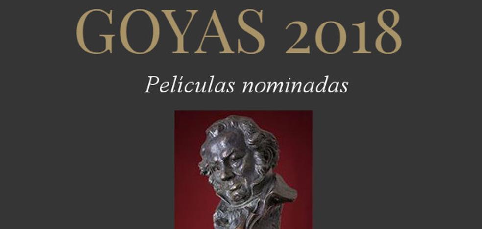 Listado completo de nominados a los Premios Goya 2018