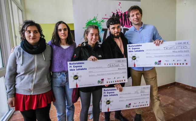 Busturialdea bendice las ideas empresariales más novedosas del sector juvenil