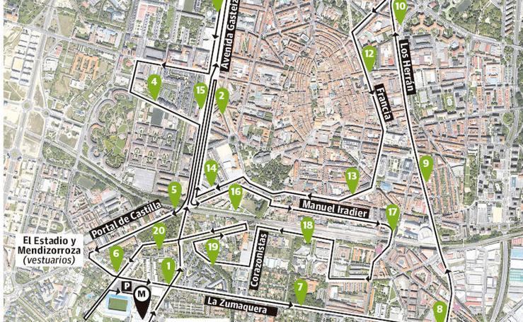 Más de cuarenta arterias de Vitoria afectadas por la Media Maratón