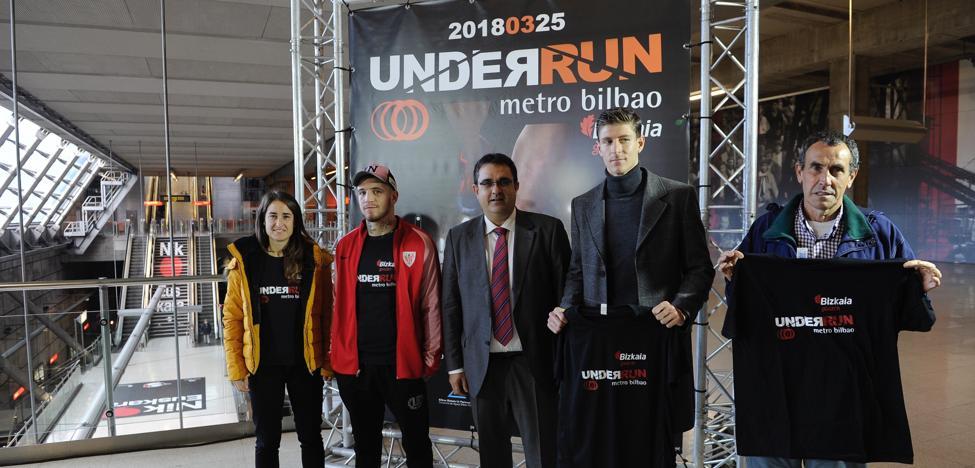 A la carrera por los túneles del metro de Bilbao con deportistas de élite