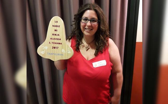 Idoia Villar, de la enoteca Pepita Uva, mejor Nariz de Rioja Alavesa 2017