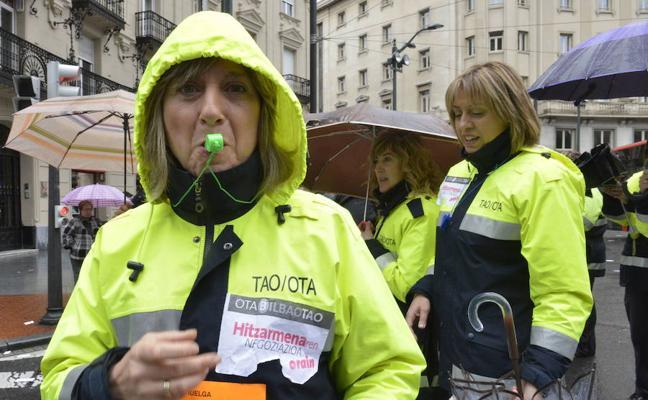 La huelga indefinida de la OTA de Bilbao comenzará el 2 de enero sin servicios mínimos