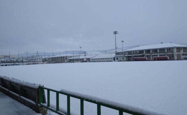 La nieve obliga a aplazar el duelo entre Osasuna B y Barakaldo