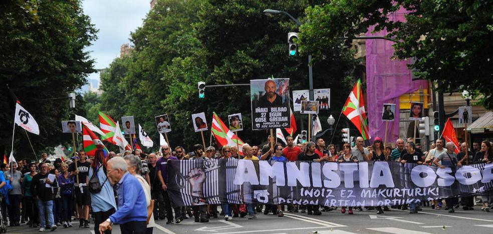 La manifestación por los presos divide a Podemos Euskadi