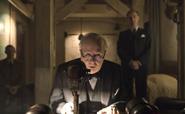 'El instante más oscuro', un Winston Churchill de Oscar