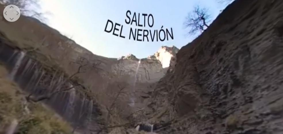 El nacimiento del Nervión, tras los temporales y en 360 grados