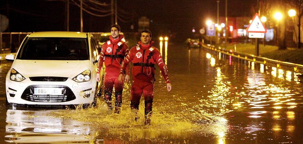 Las imágenes que dejó el diluvio en Bizkaia