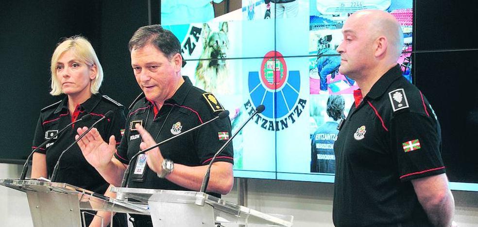 «Bilbao y Bizkaia son seguras», recuerda el jefe territorial de la Ertzaintza
