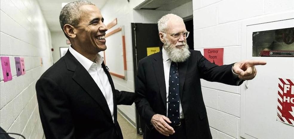 Letterman regresa a la TV con Obama