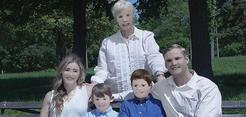 La foto familiar que recuerda al Ecce Homo de Borja