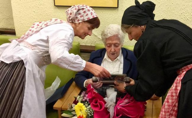 Juana Uribe, la nueva centenaria de Vitoria